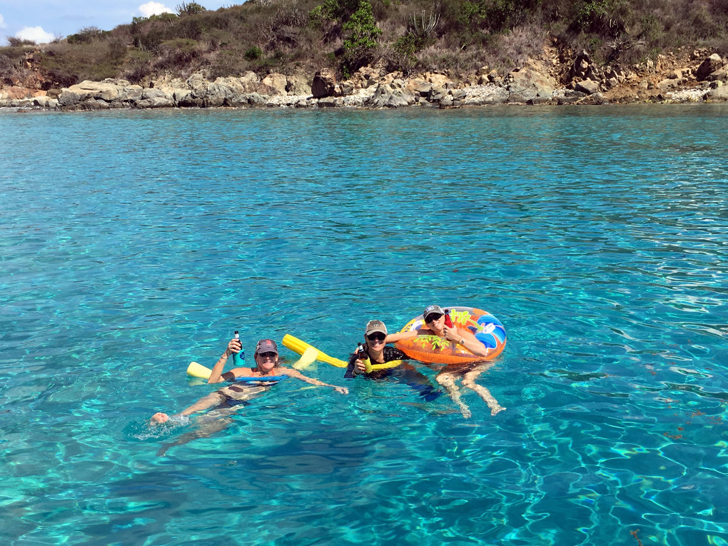 Snorkel and swim off your private yacht - Take It Easy