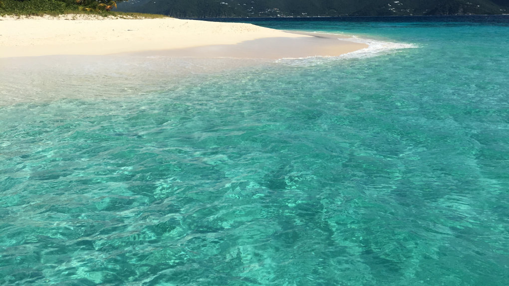 Sandy Cay is a deserted island accessible by your private yacht