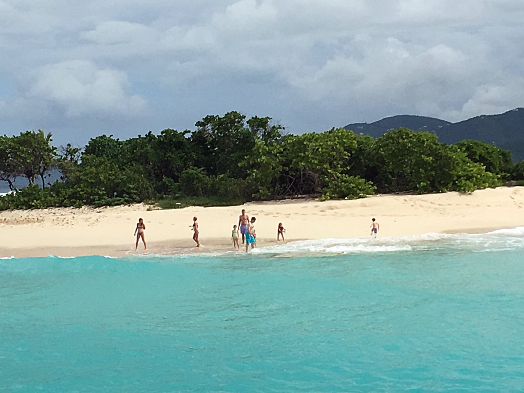 Sandy Spit is a deserted island accessible by your private Take It Easy yacht